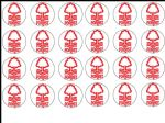 24 Nottingham Forest  Edible Wafer Rice Cup Cake Toppers Notts Forest